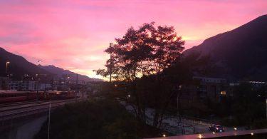 Sonnenuntergang in Chur